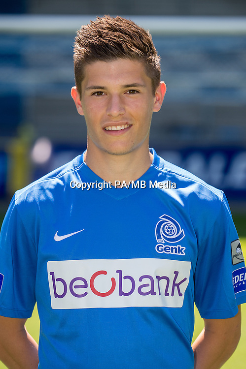 Genk's Pieter Gerkens pictured during the 2015-2016 season photo shoot of Belgian first league soccer team KRC Genk, Friday 10 July 2015 in Genk