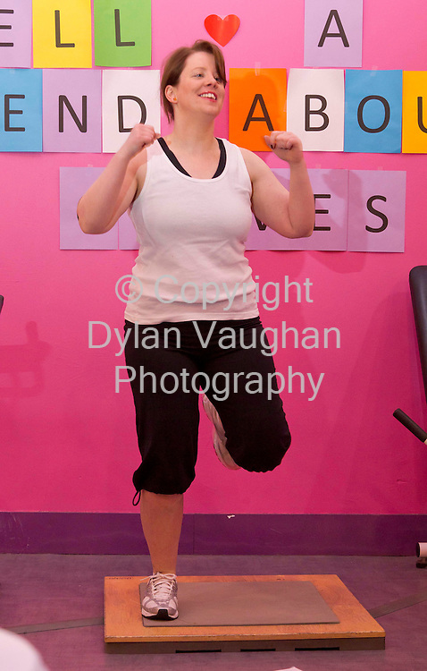 6/3/2012 .Eimear Ni Bhranaoin pictured working out at Curves in Kilkenny..Picture Dylan Vaughan.