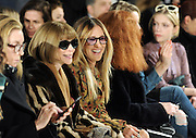 Anna Wintour and Sarah Jessica Parker attend the Calvin Klein runway show during Fashion Week in New York, Friday, Feb. 10, 2017.  (AP Photo/Diane Bondareff)