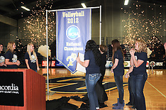 CU Volleyball Championship Banner and Amy Klobuchar Visit 1.12.2013
