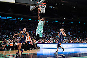 Shavonte Zellous #1 of the New York Liberty drives to the basket against the Phoenix Mercury during the second round of the WNBA Playoffs at Madison Square Garden in New York on September 24, 2016. (Cooper Neill for The New York Times)