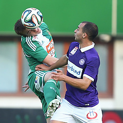 09.11.2014, Ernst Happel Stadion, Wien, AUT, 1. FBL, SK Rapid Wien vs FK Austria Wien, 15. Runde, im Bild Christopher Dibon (SK Rapid Wien) und Omar Damari (FK Austria Wien) // during a Austrian Football Bundesliga Match, 15th Round, between SK Rapid Vienna and FK Austria Vienna at the Ernst Happel Stadion, Wien, Austria on 2014/11/09. EXPA Pictures © 2014, PhotoCredit: EXPA/ Thomas Haumer