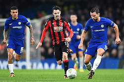 December 20, 2017 - London, England, United Kingdom - Bournemouth's Adam Smith chases down Chelsea Midfielder Danny Drinkwater during the Carabao Cup Quarter - Final match between Chelsea and AFC Bournemouth at Stamford Bridge, London, England on 20 Dec 2017. (Credit Image: © Kieran Galvin/NurPhoto via ZUMA Press)