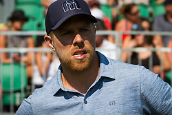 July 15, 2018 - Stateline, Nevada, U.S - San Jose Sharks All-Star center, JOE PAVELSKI moments before teeing off Sunday morning at the 29th annual American Century Championship at the Edgewood Tahoe Golf Course at Lake Tahoe, Stateline, Nevada, on July 15, 2018. (Credit Image: © Tracy Barbutes via ZUMA Wire)