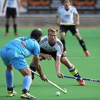 MELBOURNE - Champions Trophy men 2012<br /> Germany  v India 3-2<br /> foto: Moritz Furste defending.<br /> FFU PRESS AGENCY COPYRIGHT FRANK UIJLENBROEK