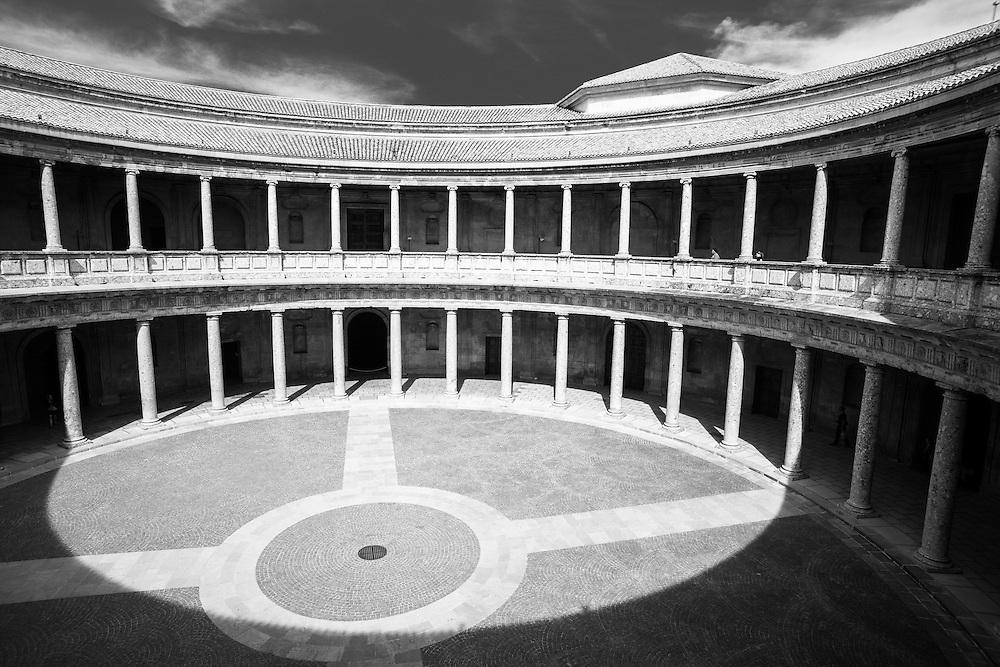 Charles V Palace, Alhambra, Granada, Spain.