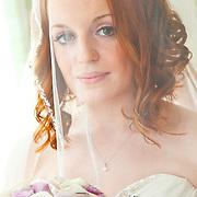 Portrait of a bride by window light
