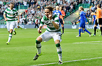 15/07/15 UEFA CHAMPIONS LEAGUE QUALIFIER<br /> CELTIC V STJARNAN<br /> CELTIC PARK - GLASGOW<br /> Celtic ace Stefan Johansen celebrates his goal.