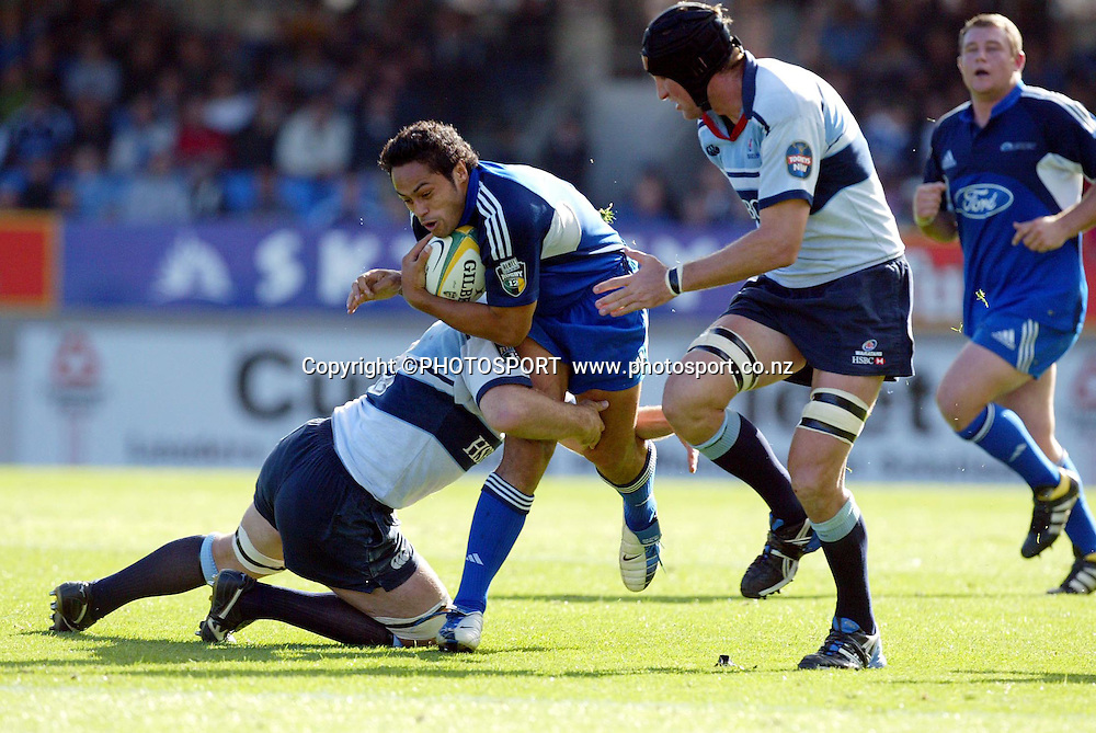 4 April, 2004, Eden Park, Auckland, New Zealand, Super 12 Rugby Union, Auckland Blues v NSW Warratahs.<br />Ben Atiga.<br />The Blues defeated the Warraths 22-17<br />Please credit: Andrew Cornaga/Photosport