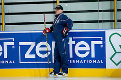 Matjaz Kopitar, head coach during practice session of Slovenian National Ice Hockey team first time in Arena Stozice before 2012 IIHF World Championship DIV I Group A in Slovenia, on April 13, 2012, in Arena Stozice, Ljubljana, Slovenia. (Photo by Vid Ponikvar / Sportida.com)