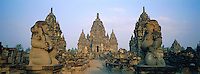 Indonesie. Île de Java. Site archéologique de Prambanan. Site du Candi Sewu. Patrimoine mondial de l'UNESCO. // Indonesia. Java island. Archeological site of Prambanan. Site of Candi Sewu. Unesco world heritage.