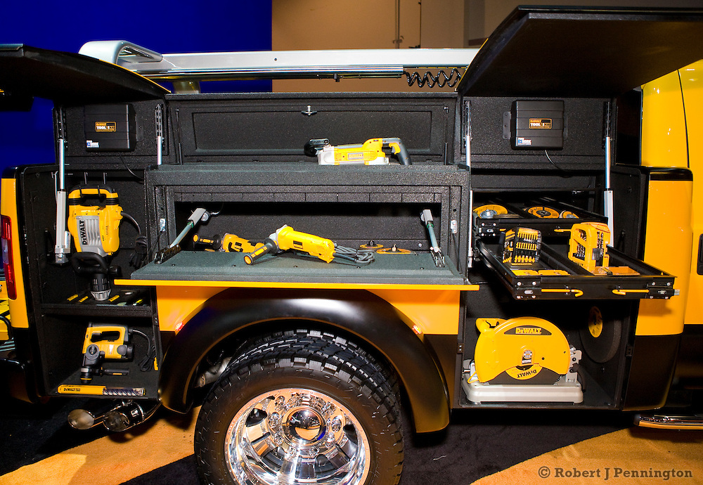2011 Ford Super Duty DeWALT Contractor Concept Truck. SEMA 2009 in Las Vegas, Nevada.