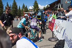 Tayler Wiles (USA) of Trek-Drops Cycling Team finishes in second place on Stage 2 of the Amgen Tour of California - a 108 km road race, starting and finishing in South Lake Tahoe on May 18, 2018, in California, United States. (Photo by Balint Hamvas/Velofocus.com)