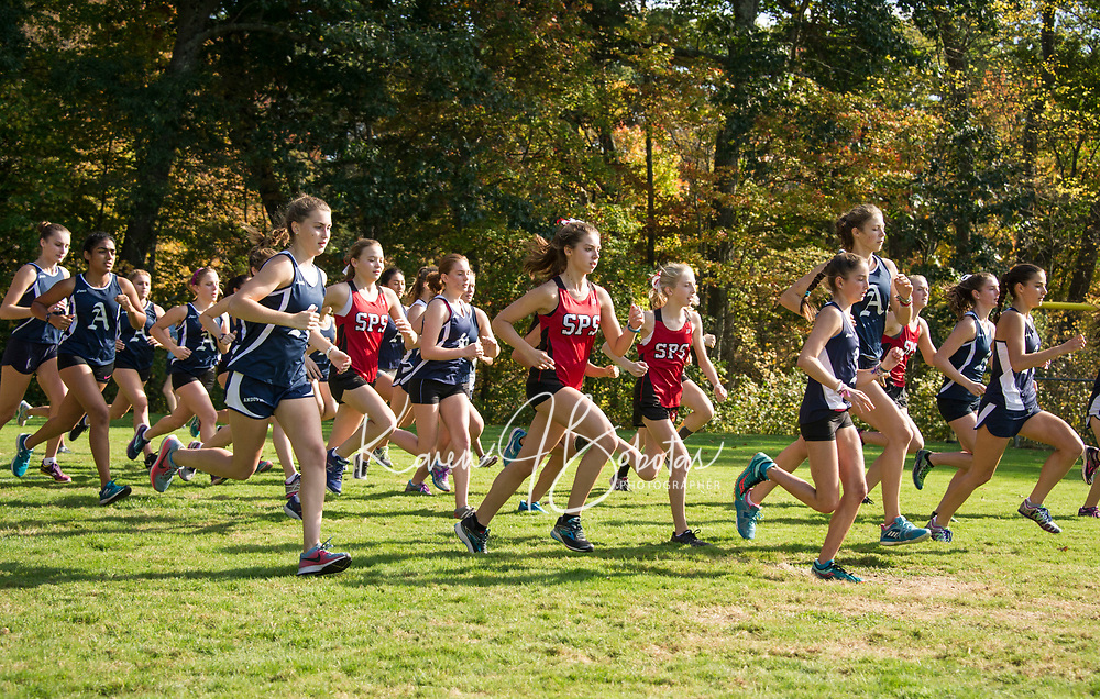 St Pauls School varsity and junior varsity cross country with Andover. ©2017 Karen Bobotas Photographer
