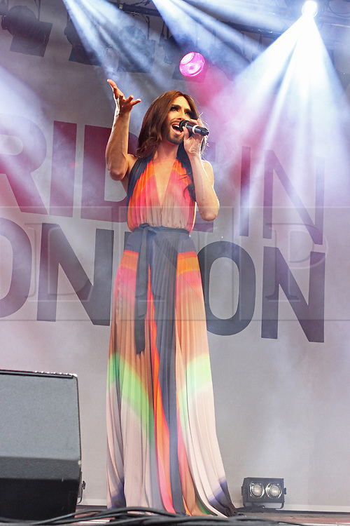 © Licensed to London News Pictures. 28/06/2014. London, UK Conchita Wurst, Pride in London 2014, London UK, 28 June 2014. Photo credit : Brett D Cove/piQtured/LNP