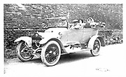Family outing in a tourer, possibly a Bianchini, c1920.