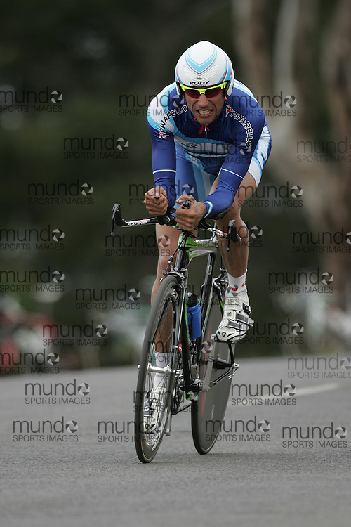 (Geelong, Australia---30 September 2010) Matias MEDICI of Argentina (ARG) racing to 29th place in the Elite Men's Time Trial race at the 2010 UCI Road World Championships [2010 Copyright Sean Burges / Mundo Sport Images -- www.mundosportimages.com]