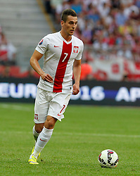 13.06.2015, Nationalstadion, Warschau, POL, UEFA Euro 2016 Qualifikation, Polen vs Greorgien, Gruppe D, im Bild ARKADIUSZ MILIK SYLWETKA // during the UEFA EURO 2016 qualifier group D match between Poland and Greorgia at the Nationalstadion in Warschau, Poland on 2015/06/13. EXPA Pictures © 2015, PhotoCredit: EXPA/ Pixsell/ MICHAL CHWIEDUK<br /> <br /> *****ATTENTION - for AUT, SLO, SUI, SWE, ITA, FRA only*****