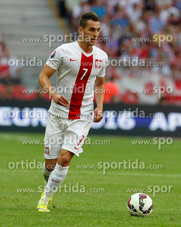 13.06.2015, Nationalstadion, Warschau, POL, UEFA Euro 2016 Qualifikation, Polen vs Greorgien, Gruppe D, im Bild ARKADIUSZ MILIK SYLWETKA // during the UEFA EURO 2016 qualifier group D match between Poland and Greorgia at the Nationalstadion in Warschau, Poland on 2015/06/13. EXPA Pictures &copy; 2015, PhotoCredit: EXPA/ Pixsell/ MICHAL CHWIEDUK<br /> <br /> *****ATTENTION - for AUT, SLO, SUI, SWE, ITA, FRA only*****