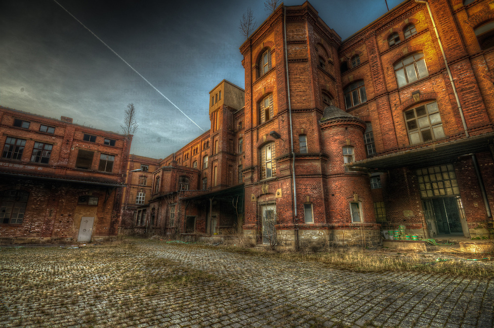 An old chocolate factory in East Germany, built in 1831 closed in 1999.
