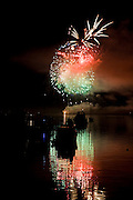 Fireworks, 4th of July, Lopez Island, San Juan Islands, Washington State