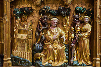 France, Côte-d'Or (21), Paysage culturel des climats de Bourgogne classés Patrimoine Mondial de l'UNESCO, Dijon, Musée des Beaux-Arts dans l'ancien palais des ducs de Bourgogne, retable de la Crucifixion du XIVe siècle // France, Burgundy, Côte-d'Or, Dijon, Beaux-Art museum