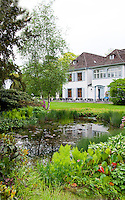 Switzerland. Springtime. View of house and garden  at the Fondation Beyeler.