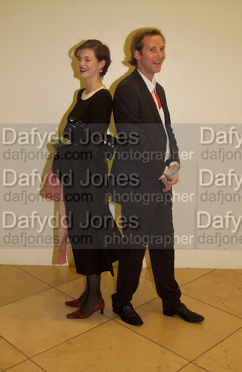 Jasmine Guinness and Gawain Rainey, Cecil Beaton portraits, National Portrait Gallery, 4 February 2004. © Copyright Photograph by Dafydd Jones 66 Stockwell Park Rd. London SW9 0DA Tel 020 7733 0108 www.dafjones.com