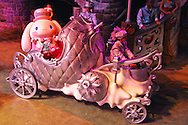 Sanrio Puroland is an indoor theme park located in Tama Center, Tokyo that attracts over 1.5 million visitors per year and hosts various musicals, restaurants, attractions, and theme rides using popular characters such as Hello Kitty, Pochacco, Keroppi, and many more. While many of the shows are only in Japanese, Puroland nevertheless attracts many visitors from overseas as well as Japan because of the worldwide popularity of these characters.   Puroland has become one of Japan's most popular attractions.