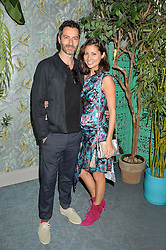 NICK HOPPER and JASMINE HEMSLEY at the launch of Matthew Williamson's 'Sea to Shore' range for The Outnet.com held at the Matthew Williamson's showroom, Studio 10-11, 135 Salusbury Road, London NW6 on 5th May 2016