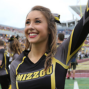 ORLANDO, FL - JANUARY 01:  A Missouri cheerleader performs during the Buffalo Wild Wings Citrus Bowl between the Minnesota Golden Gophers and the Missouri Tigers at the Florida Citrus Bowl on January 1, 2015 in Orlando, Florida. (Photo by Alex Menendez/Getty Images) *** Local Caption ***