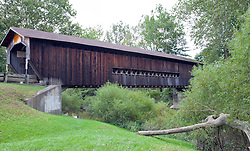 Benetka  Road Covered Bridge, a 138-foot-long Town Lattice with Arch-style structure,  was built around 1900 to cross the Ashtabula River, south of Ashtabula, Ohio.