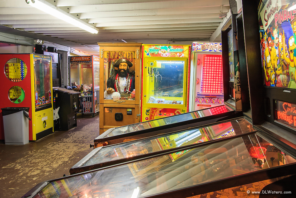 Picture of the outer banks pinball games and arcade games as seen inside Avalon pier.