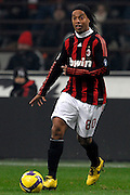 Ronaldinho (Milan) in action during the Serie A match against Fiorentina on January 17, 2009 at San Siro Stadium in Milan. AC Milan defeated Fiorentina 1-0.