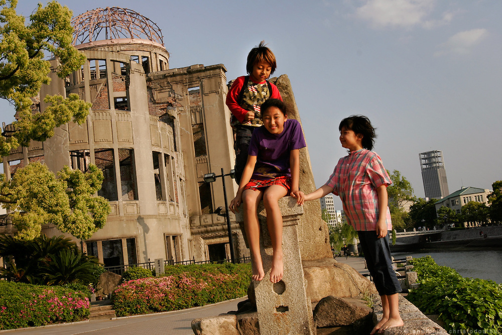 Hiroshima City. The city today is very lively. Children of Hiroshima go to the Peace Memorial Park to play and the A-Bomb Dome is just an other monument.