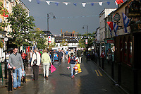 The Main Street in Portlaoise town in Ireland during the world fleadh festival