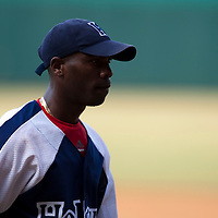 15 Februray 2009: Left pitcher Aroldis Chapman of the Orientales walks back to the dugout during a training game of Cuba Baseball Team for the World Baseball Classic 2009. The national team is pitted against itself, divided in two teams called the Occidentales and the Orientales. The Orientales win 12-8, at the Latinoamericano stadium, in la Habana, Cuba.