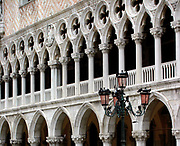 Venice, Doge's Palace, facade. The Doge's Palace (Italian: Palazzo Ducale di Venezia) is a gothic palace in Venice. The palace was the residence of the Doge of Venice. The current palace was largely constructed from 1309 to 1324