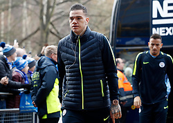 Manchester City goalkeeper Ederson arrives for the Premier League match at The John Smith's Stadium, Huddersfield.