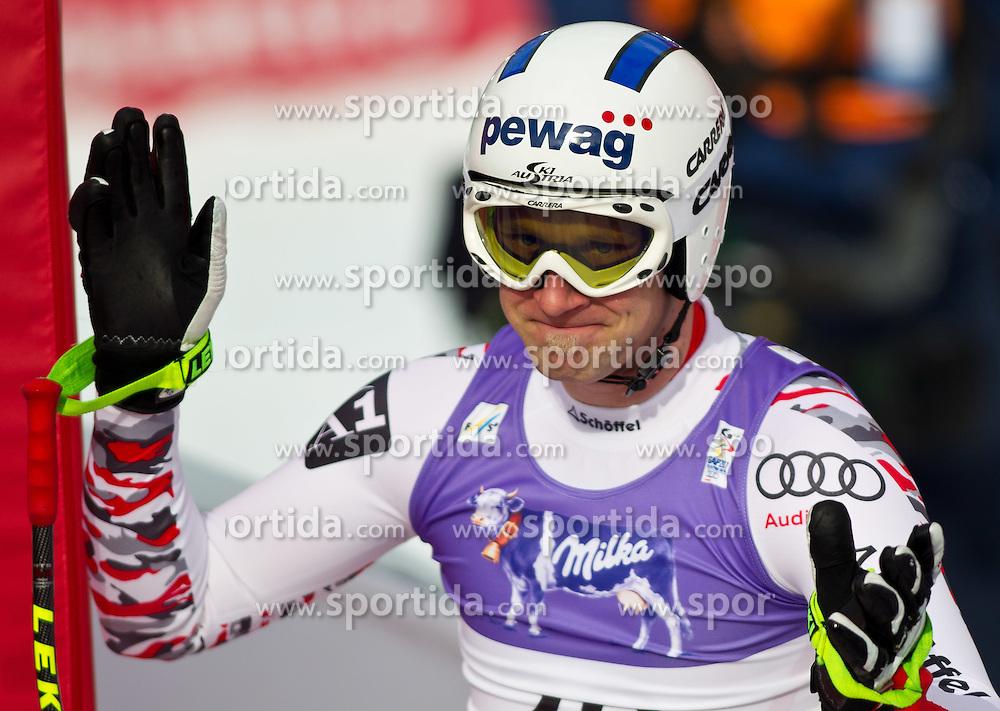 12.02.2011, Kandahar, Garmisch Partenkirchen, GER, FIS Alpin Ski WM 2011, GAP, Herren, AQbfahrt, im Bild Romed Baumann (AUT) // Romed Baumann (AUT)  during men's Downhill, Fis Alpine Ski World Championships in Garmisch Partenkirchen, Germany on 12/2/2011. EXPA Pictures © 2011, PhotoCredit: EXPA/ J. Groder