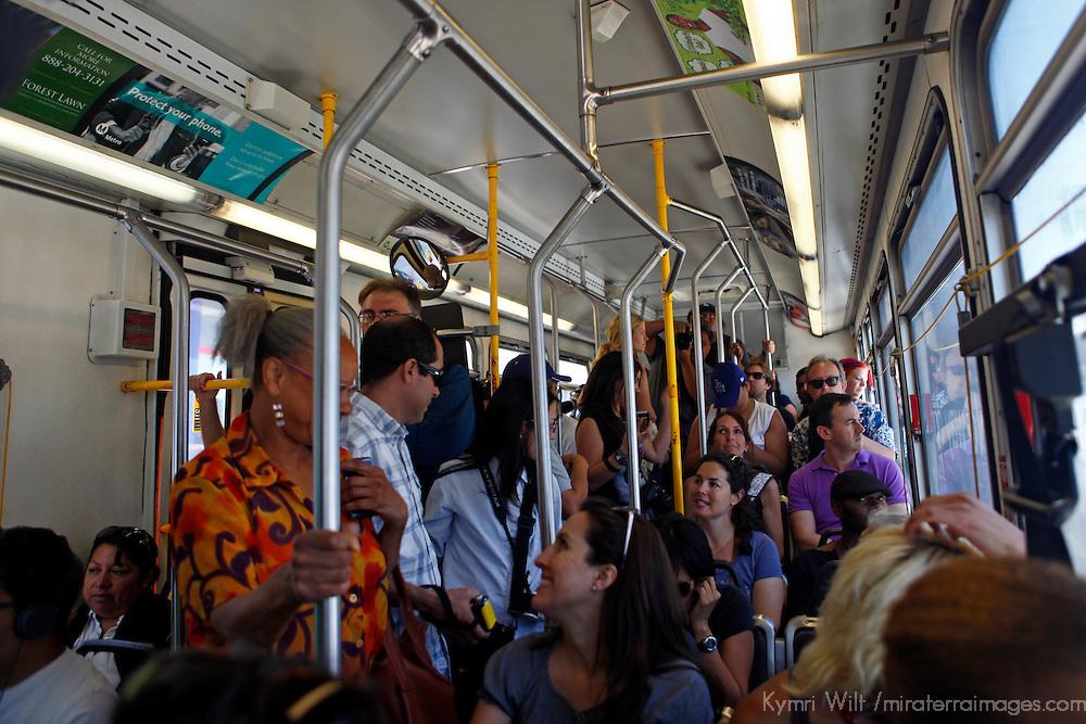 USA, California, Los Angeles. Metro Bus public transportation, Los Angeles.