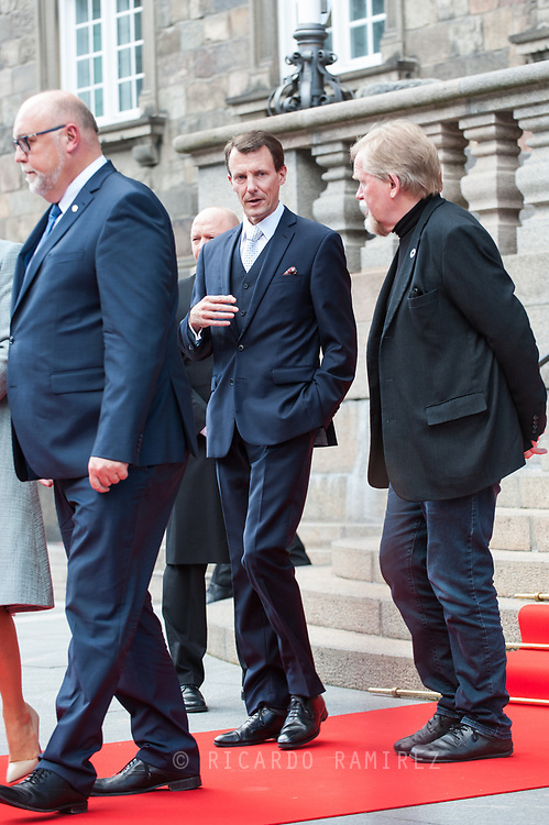 03.10.2017. Copenhagen, Denmark. <br /> Prince Joachim leaves the Danish Parliament at Christiansborg Palace in Copenhagen, Denmark.<br /> Photo: &copy; Ricardo Ramirez