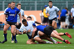 Anthony Watson is tackled to ground, Bath Rugby were allowed to start Stage Two of the Premiership Rugby return to play protocol - Mandatory byline: Patrick Khachfe/JMP - 07966 386802 - 06/08/2020 - RUGBY UNION - The Recreation Ground - Bath, England - Bath Rugby training