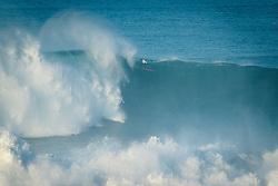 Greg Long (USA) placed 5th in Heat 1 of Round 1 of Nazaré Challenge 2018