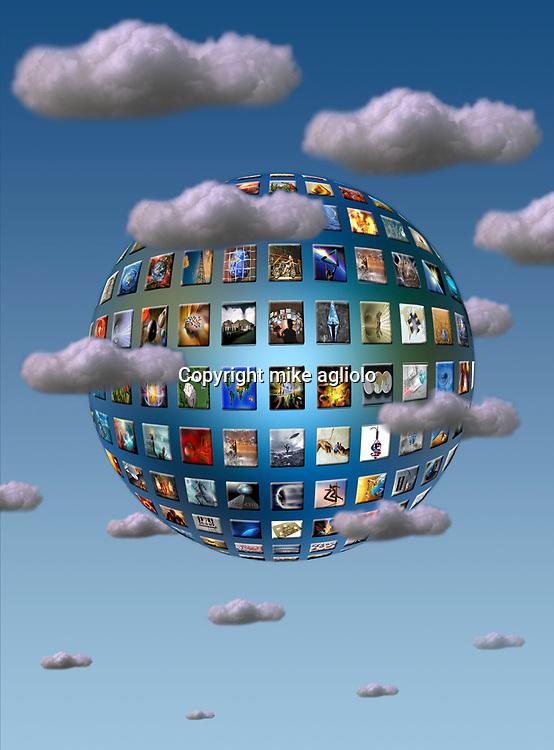 screens in clouds