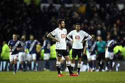 Jacob Butterfield and Cyrus Christie of Derby County look frustrated while Birmingham City celebrate their third goal - Mandatory byline: Robbie Stephenson/JMP - 16/01/2016 - FOOTBALL - iPro Stadium - Derby, England - Derby County v Birmingham City - Sky Bet Championship