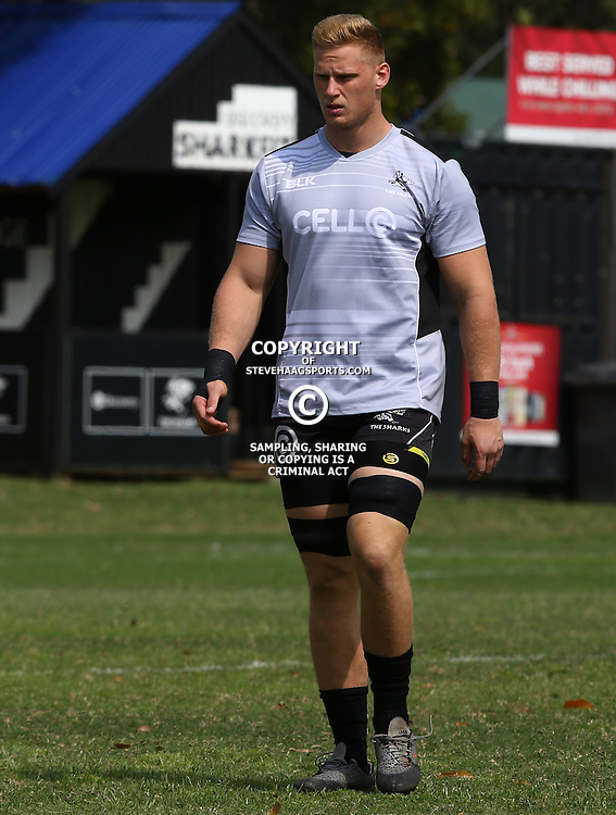 DURBAN, SOUTH AFRICA, 8 September, 2016 - Jean-Luc du Preez during The Cell C Sharks training session at Growthpoint Kings Park in Durban, South Africa. (Photo by Steve Haag)<br /> <br /> images for social media must have consent from Steve Haag