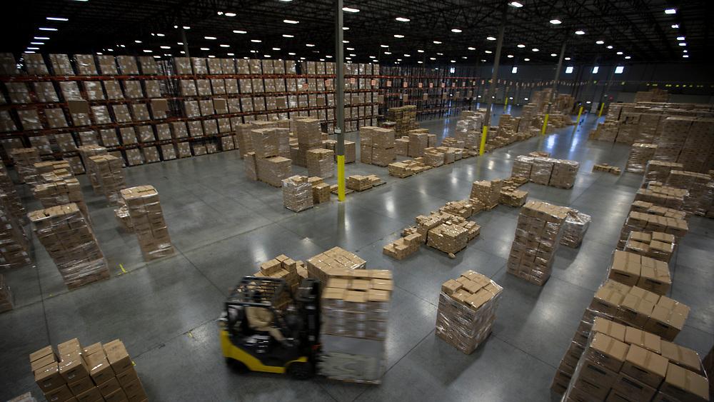 02/17/2015: POOLER, GA: xxxx xxxx works at the AO Logistics distribution center, Tuesday, Feb. 17, 2015, near the Port of Savannah in Pooler, Ga. (Stephen B. Morton for The New York Times)