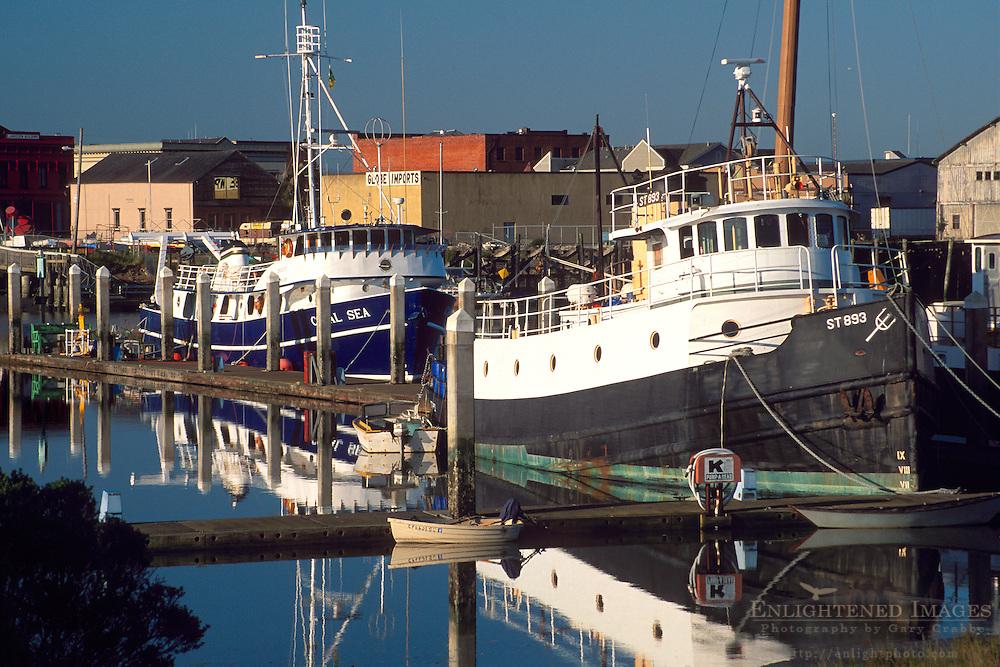 Commercial fishing boats in Eureka Harbor, Humboldt County, CALIFORNIA