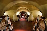 Underground celler in Vineyard 29 Winery's caves near St. Helana, in California's Napa Valley